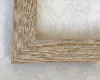 White Washed Beach Picture Frame - White Washed Barn Wood Frame- 5x7, 8x10, 8.5x11, 11x14, 16x20, 20x24, 24x30- Custom Sizes Welcome!