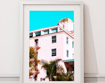 Landscape Photograph // Photography // Beach // Hotel // Architecture // Building // Art // Wall Art // Prints // Summer // Spring // Pink