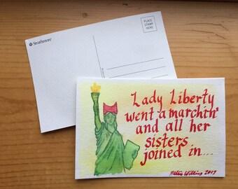 Marching Lady Liberty