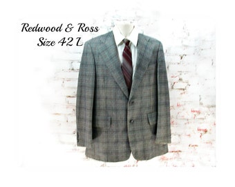 men's blazer, men's sports jacket, men's Sport coat,   big and tall sports coat,  blazer, size 42 L   # 37