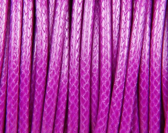 10 meters of waxed polyester cord 2mm purple Korean