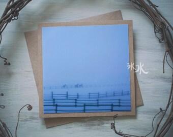 Landscape Photo Card - Morning on farm - Yakima valley, WA