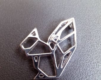 Origami 19x18mm silver squirrel charm
