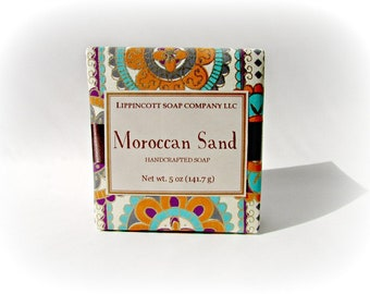 Moroccan Sand Cold Process Soap, Unisex Soap, Handmade Soap Bar, Phthalate Free, Palm Oil Free Soap, Carnation, Sandalwood, Musk