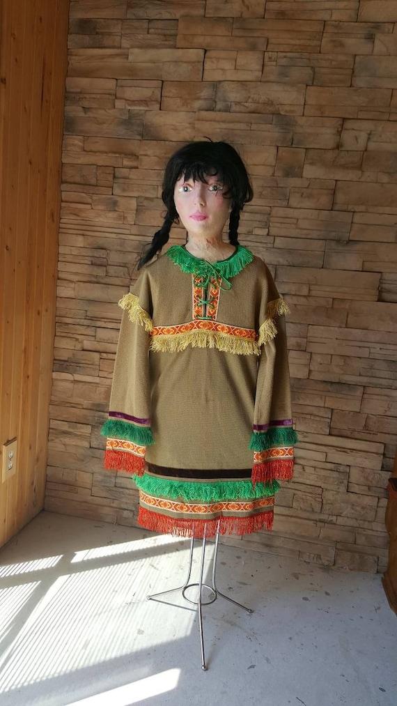Jungen Mädchen 6 bis 10 verkleiden sich Kleidung/Native