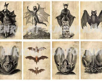 Victorian Bats ATC Digital Download