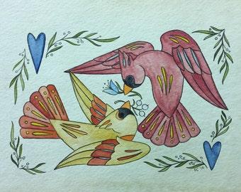 Enamored Cardinals