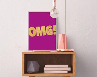 OMG!  Printable art, POP ART, Fun