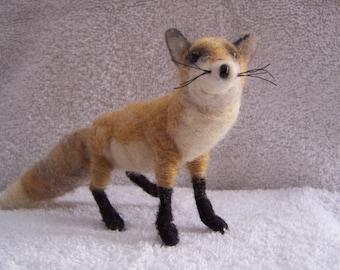Needle Felted Wool Fox