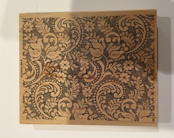 Lace Rubber Stamp