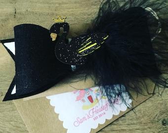 Black Swan Princess Hair Bow, hair accessories, gift ideas
