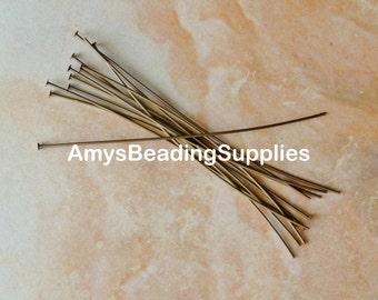 24 Vintaj 3-Inch Head Pins, 21 Gauge  (HP3)