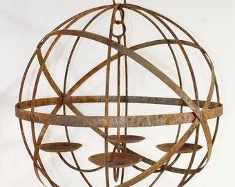 Chandelier etsy wrought iron lg 24 mystic sphere candle chandelier lighting use indoor or outdoor aloadofball Gallery