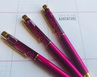 """1pc Floating Glitter Pen""""Raspberry"""""""