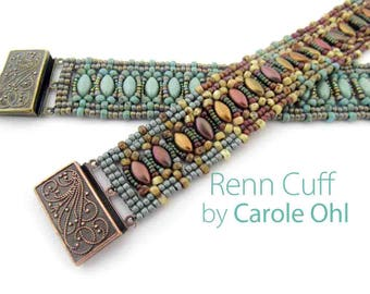 Renn Cuff Beadweaving Tutorial by Carole Ohl