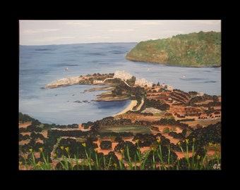 Acrylic, art, Greece, Naxos northeast