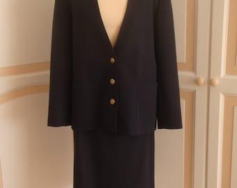 Smart Navy Costume C & A Vintage size 18 uk