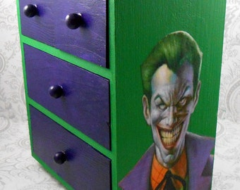 Custom Joker Green and Purple Stash Jewelry Box