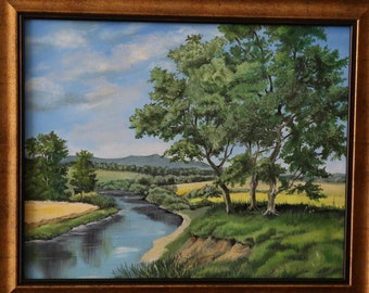 Trees and river landscape