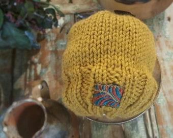 Slouchy Ponytail hat - Bun hat