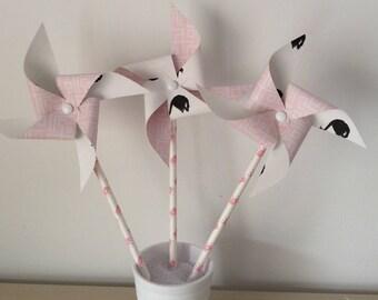 Windmills, rose, Swan
