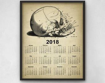 2018 skull calendar | Etsy