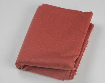 Cotton Polyester Mix Poplin -Brick Red