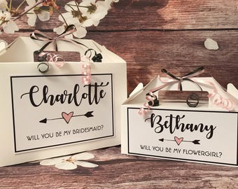 Will You Be My Bridesmaid Flowergirl Maid of Honour Gift Box