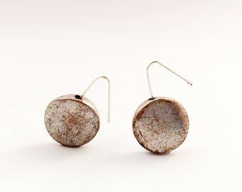 Silver Bead Earrings, Minimalist Earrings