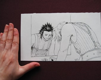 Final Fantasy VII - Mirror Original Ink Drawing