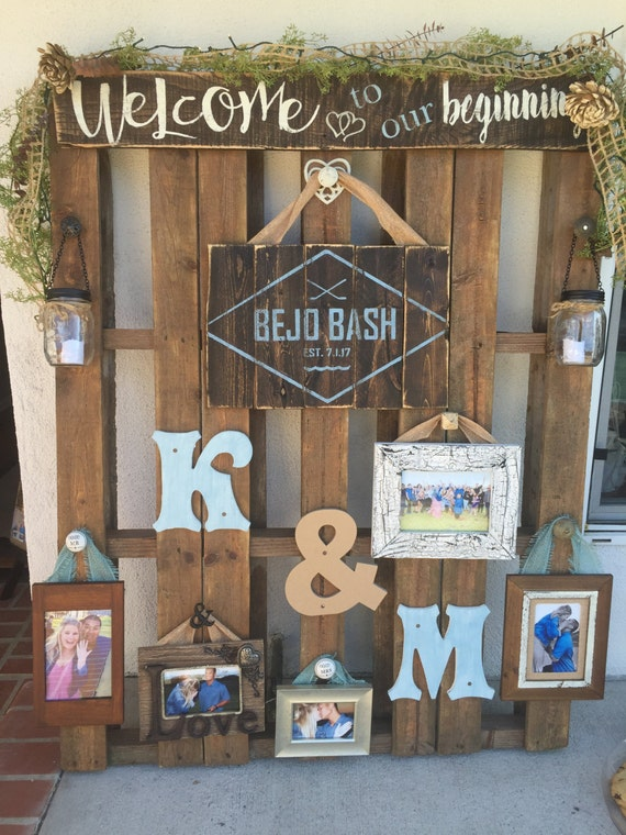 Pallet Wedding Decor Wood Pallet Sign Wedding Display