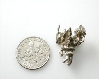 Pendant Sterling Silver Vintage Disney Flying Gaucho Charm or Pendant