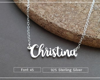 Name Necklace-Custom Name Necklace-Personalized Name Necklace-Custom Name Gift-Your Name Necklace-Bridesmaids Jewelry-Christmas gift #NF45