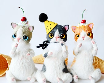 Custom cat portraits doll , Commission cat doll, handmade toy,interior gift doll, Made to Order, customized figurines, Cat Lovers Gift, ooak