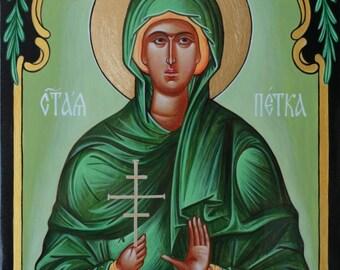 St. Petka - Parasceva, Handpainted, Orthodox icon, Religions Icon, Religions gift, Orthodox icon for sale