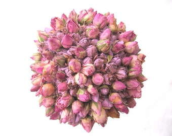 ROSE TOPIARY tiny  dried rosebuds