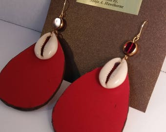 Genuine leather, handcrafted earrings