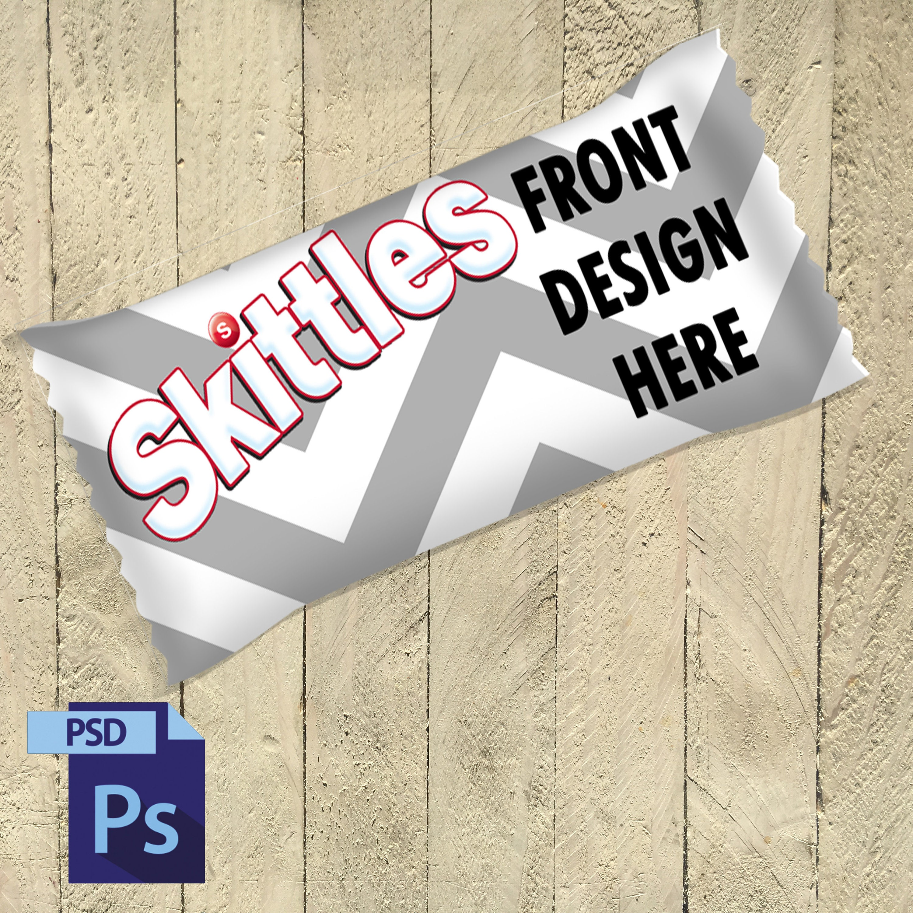 Skittles Wrapper Template PSD File MUST HAVE Photoshop