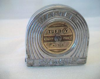 Vintage-Master-Rule-Tufboy-No-308-Retractable-8-Foot-Steel-Tape-Measure-USA-C6  In