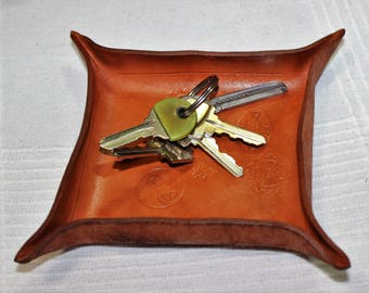 leather valet key holder steampunk