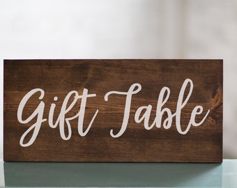 Wedding Gift Table Wooden Sign Decor | Baby Shower Gift Table | Reception Decor | Gift Sign | Cards and Gifts | Shower Decor | Wedding Decor