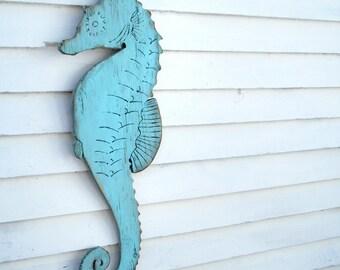 Seahorse Wall Decor Wooden Seahorse Decor Sea Horse Wall Decor Nautical Outdoor Wall Decor Coastal Outdoor Wall Decor Beach House Decor