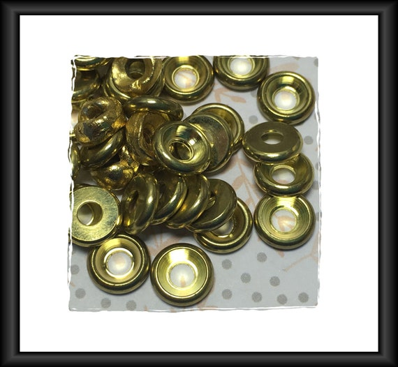 Gold Tone Flat Bead Cap Spacer 9 mm. 3 mm Hole, 36 Spacers