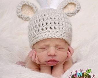 Deer Hat - Newborn - Crochet - Photography Prop