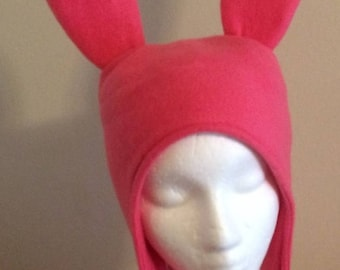 Pink Bunny Ears hat - Five Sizes: XS, S, M, Lge & X Lge 3-5 Day Delivery