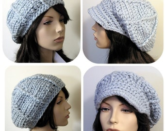 The Ava Hat - Beret or Applejack 2 styles in 1 - Crochet Pattern PDF