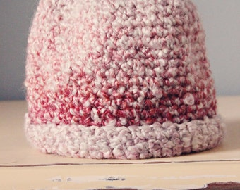 Pink Baby Girl Hat Size 0-3months
