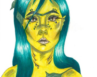 Swamp Girl Art Print