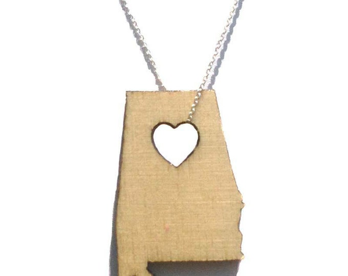 Alabama Necklace State Necklace Laser Cut States of Love