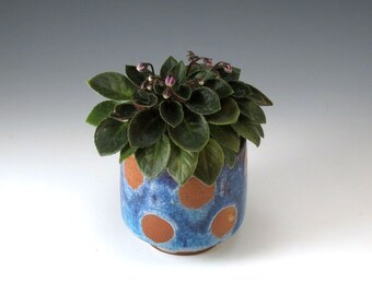 Ceramic Planter Flower Pot Pottery Planter Ceramic Succulent Pot Handmade Pottery Windowsill Blue Planter, Home Decor, FP21.22